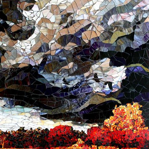 Colorado Storm: Custom Mosaic Art