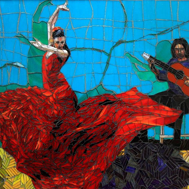 Falmenco Dancer: Custom Mosaic Art