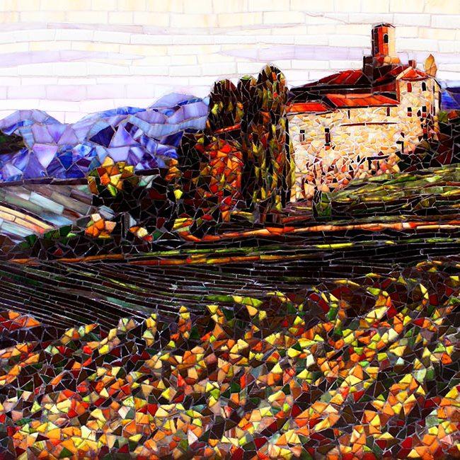 Piedmont Vineyard: Glass Mosaic Art
