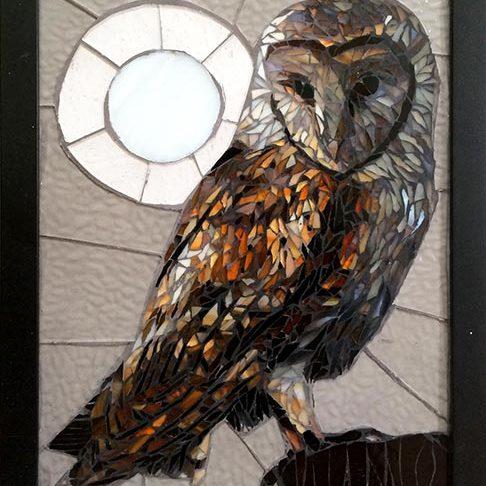 Barn Owl: Fine Art Mosaics