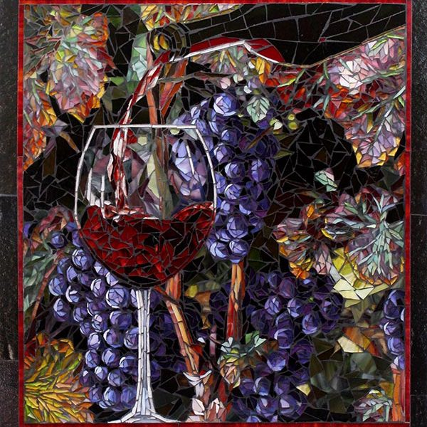 Pouring of the Wine: Custom Mosaic Art