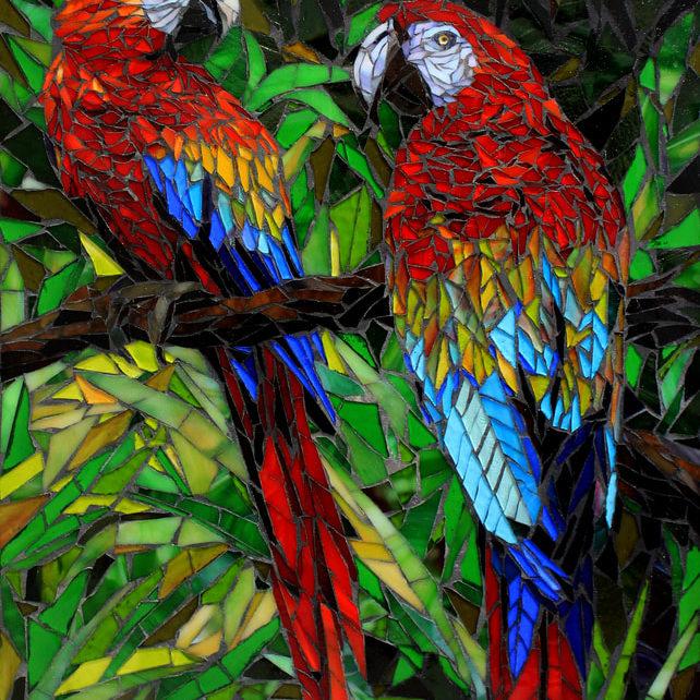 """Fine art glass mosaic<br> <em>24"""" x 16""""</em>"""