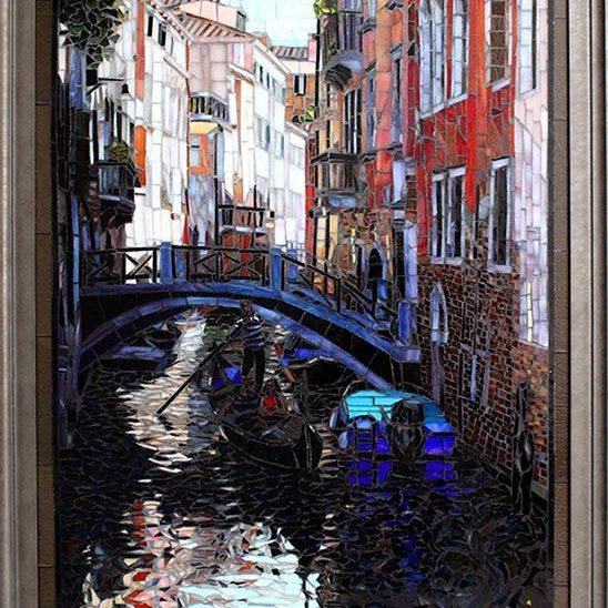Morning in Venice: Fine Art Mosaics For Sale