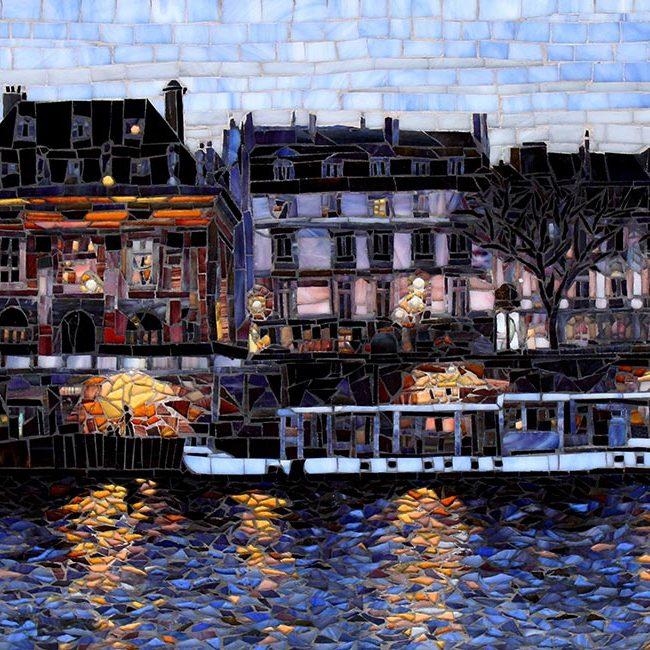 Walk along the Seine: Glass Mosaic Art