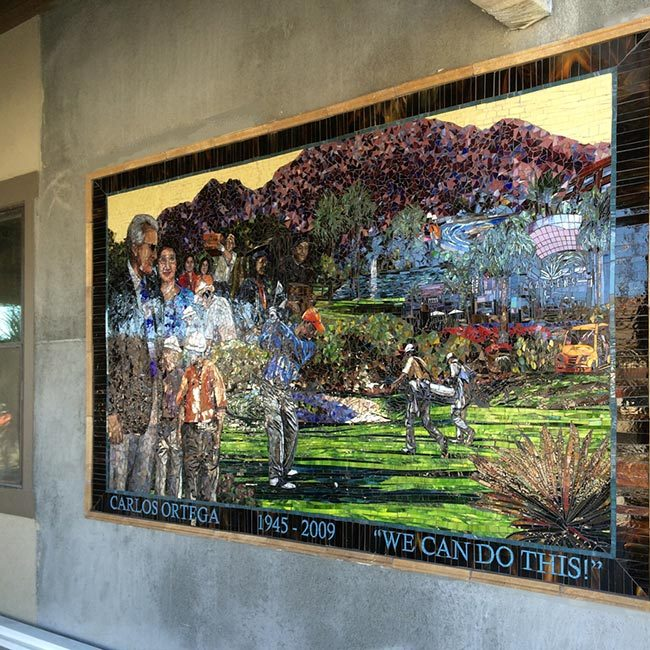 Carlos Ortega: Custom Mosaic Mural