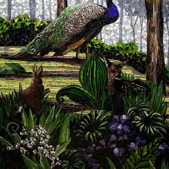 St Francis Elevator Mural: Custom Mosaic Artists