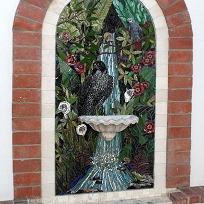 Brentwood Fountain: Custom Mosaic Art