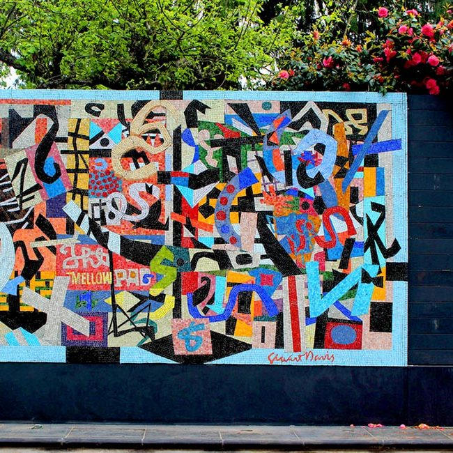 Ode to Stuart Davis: Mural by Washington Mosaic Artists