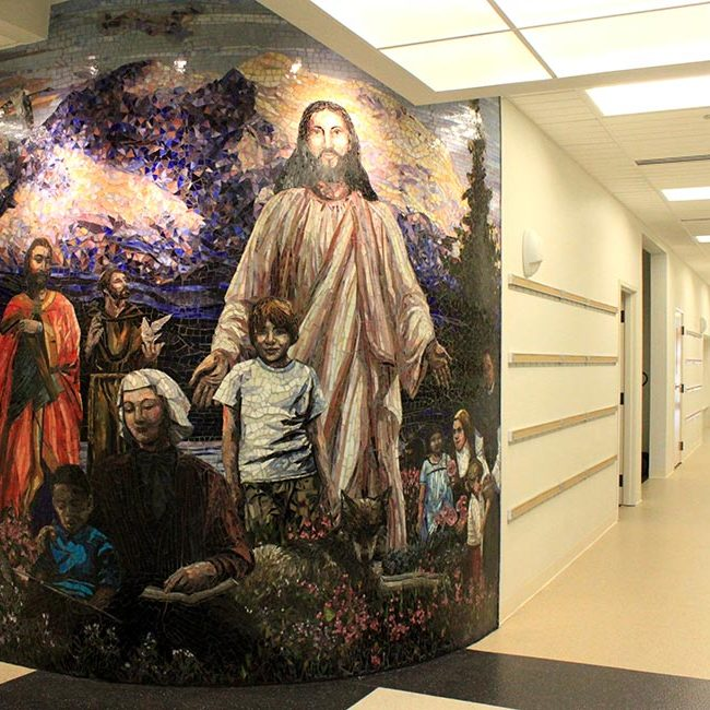 Elizabeth Ann Seton School Mural: Custom Mosaic Murals