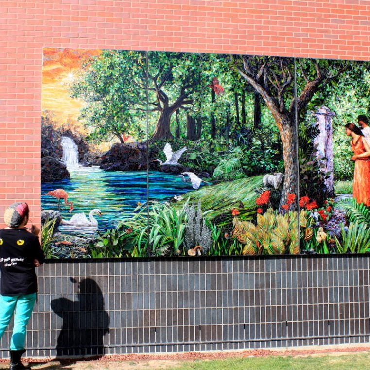Return to Eden: Custom Public Artwork Mosaic Tile Mural