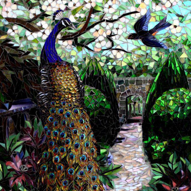 Spring Garden: Fine Art Mosaic