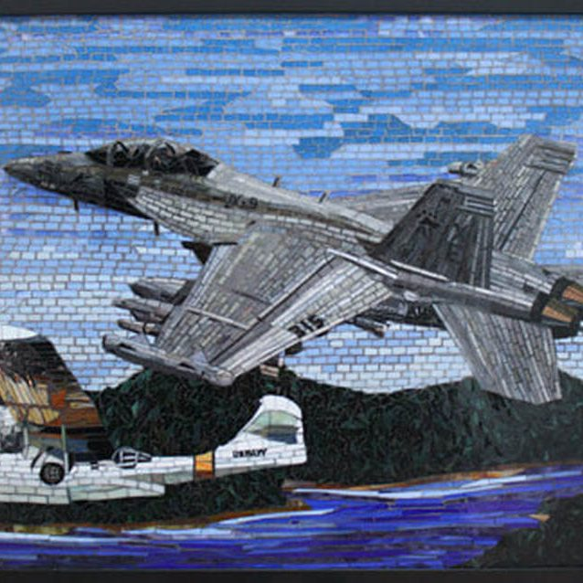 Whidbey Island Naval Air Station, Washington. Custom Mural